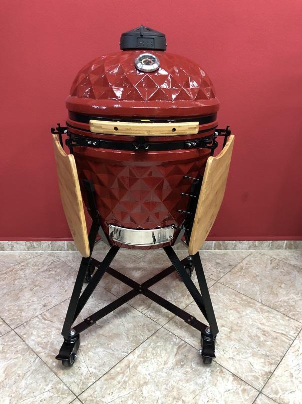 BM-21″   Ceramic Kamado Grill/Smoker (Red)