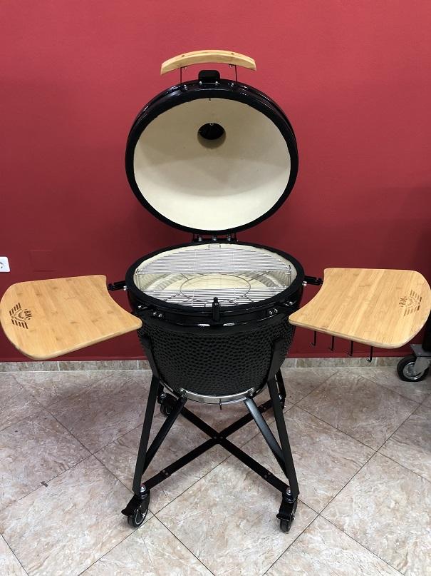 BM-25″   Ceramic Kamado Grill/Smoker (Black)