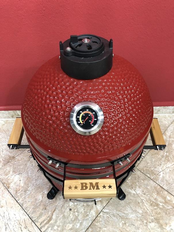 BM-15″   Ceramic Kamado Grill/Smoker (Red)