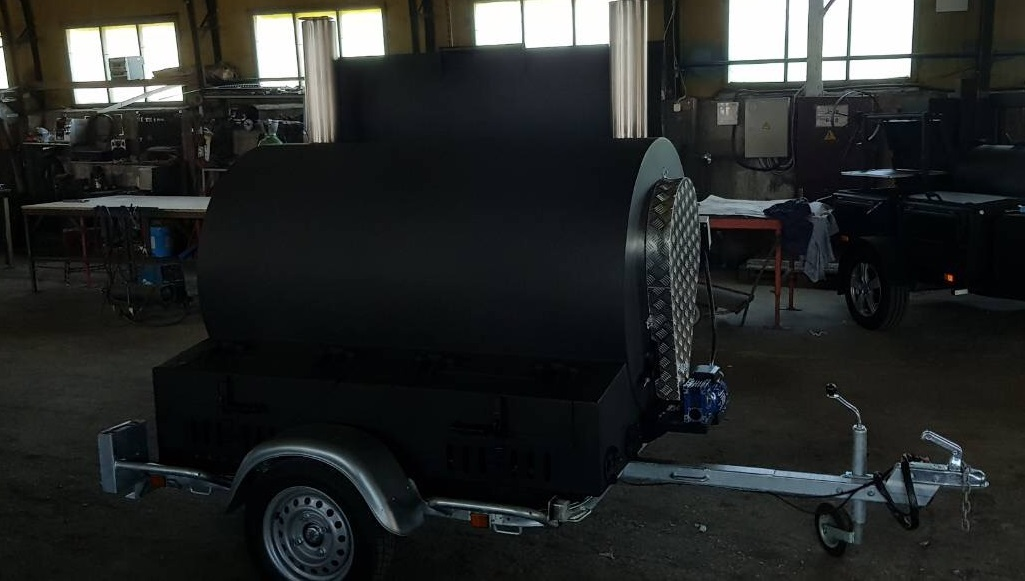 """BM-3"" Rotisserie Smoker/Cooker Trailer"
