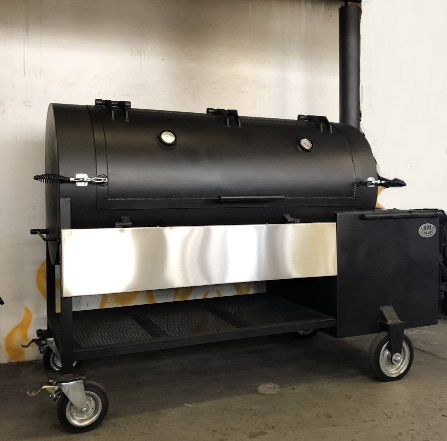 """BM S-5""  reverse flow offset smoker(Latest Version)"