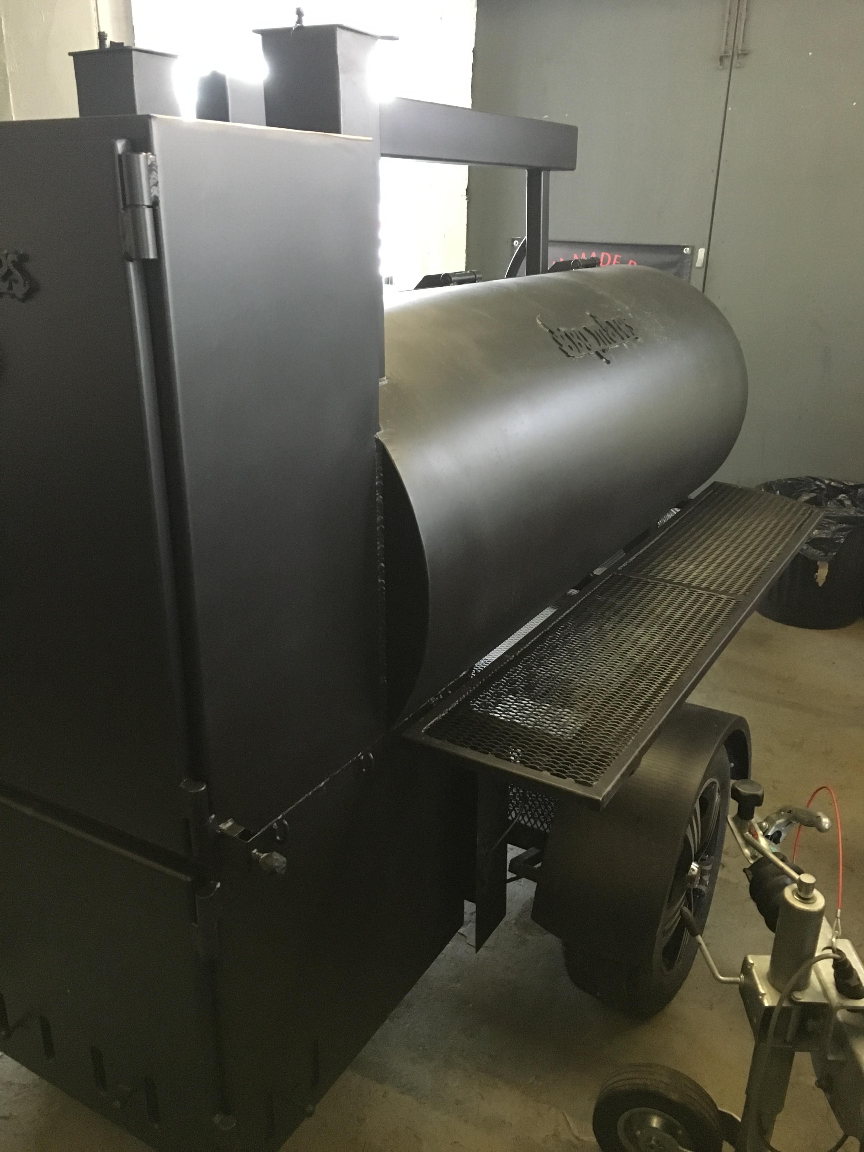 """BM-2""  Reverse Flow Large BBQ Trailer"